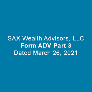 Form ADV Part 3. Dated March 26, 2021