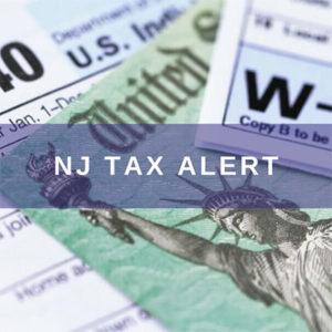 NJ Tax Alert