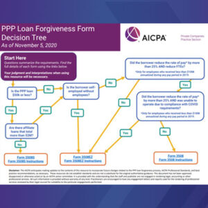 PPP Loan Forgiveness Form Decision Tree
