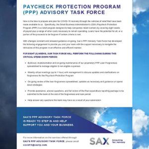 Paycheck Protection Program (PPP) Advisory Task Force